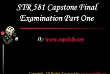 STR 581 Capstone Final Examination Part One Latest Tutorials