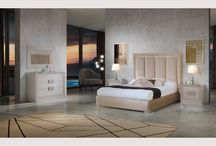 Modern Contemporary Microfiber Beige Bed Florida