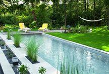 jardines con piletas
