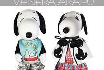 Snoopy & Belle dressed by Venera Arapu