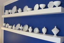Milk glass collecting