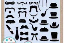 Mygrafico Mustache Baby Showers & Birthday Party Ideas / by Mygrafico Digitals