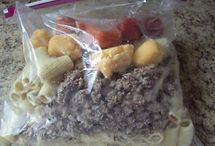 Food - Freezer Meals / Meals that can be made ahead, stored in the freezer, and fixed with little work!
