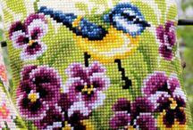 Gobelin / Szeretem a Gobelin és Keresztszemes hímzést, Szép dekoráció egy női táskára, vagy akár faliképek, terítők, párnák díszítésére.