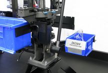 InLine Fabrication gear for Dillon Precision reloading presses. / InLine Fabrication reloading press mount, riser, stand. Reloading accessories and equipment for your room or bench.