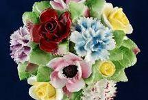 Bone China bloemen / Bone China bloemen / by Ada Pouw-Agterberg