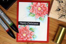 Stamped Poinsettia