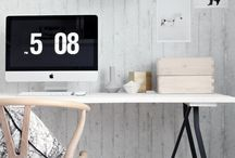 """Office decor / """"If a cluttered desk is a sign of a cluttered mind, of what, then, is an empty desk a sign?"""""""