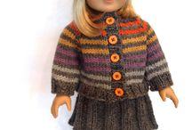 Bambole / Abiti maglia e cucito