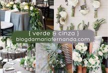 Casamento - bronze,branco e verde / Paleta de cores: bronze,branco e verde