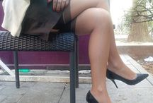 Nude Stockings With High Heels / Candid and Amateur Women In Sexy Nude Stockings and High Heels