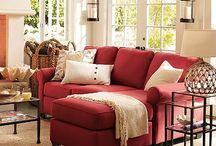 Red Themed Living Rooms