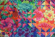 Shimmering quilt
