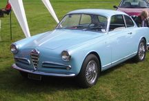 Fifties Alfa Romeo Giulietta blue living room