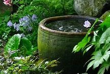 Japanese garden ideas with water  trough