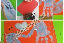 Handprint elephant art