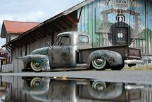 vintage cars and trucks / by Velma Sanchez