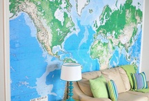 Global Gathering / Map and Atlas inspiration for interior décor.