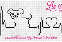 Cross Stitch ~ Line Drawing