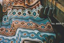 Mantas em crochet
