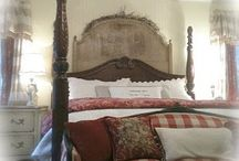 Master Bedroom / Bedrooms, romantic homes, Cottage style, french vintage decor,