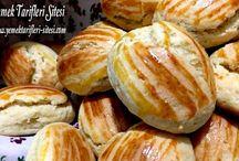 Portakallı badem kurabiye
