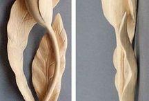 scultura legno fiore