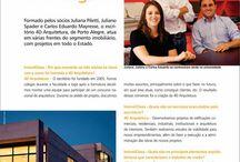 4d na Imprensa / Publicações que trazem projetos e depoimentos da 4d-arquitetura e seus arquitetos.