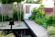 contemporary water garden