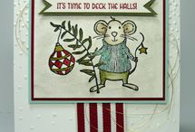 stampin up merry mice cards