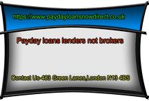 Payday loans lenders not brokers