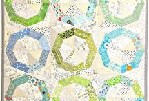 Quilts triángulos, pinwheels y spiderweb