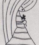 Hímzés - gyerekfigura