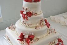 Xmas wedding cakes
