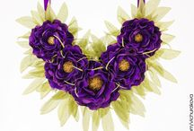 Воротнички и колье с цветами (collar necklace with flowers)
