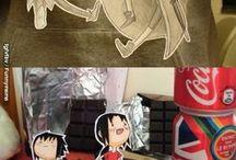 adesivo de corte de papel anime!