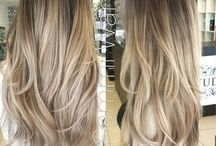 Balayage straight hair