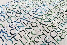 Calligraphy uncial / Uncial alphabet