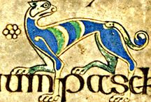 Celtic letters and animals