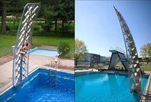 Climbing wall for pools