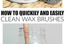 Clean wax brushes