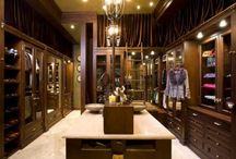 Luxury Walk-In Closet / Looking to make that walk-in closet stand out ? Bring home the Dior, Armani, Victoria Secret & Lamborghini brand home by bringing the showroom millwork into your closet #Closet #WalkIn #Fashion #Designer