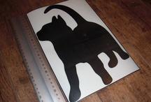 Pegatinas de mascotas / Pegatinas con la foto o dibujo de tu mascota.