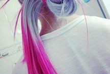 Inspiration: Multicolor/Bicolor hair ♥