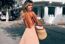 Backless dress & Loose