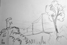 Mal-Skizzen / Im Vorfeld meiner Acrylbilder fertige ich mir meist Motiv- Skizzen mit Bleistift oder Kuli an. Hier findet Ihr verschiedene bereits umgesetzte oder noch nicht in Acryl gemalte Bilder.