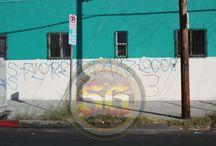 Hispanic gang graffiti in South Los Angeles