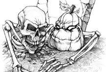 halloween tekening