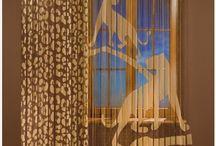 Panele gotowe / Piękne panele gotowe wykonane z super jakości żakardu z ręcznie malowanymi motywami