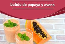 Batidos de Papaya
